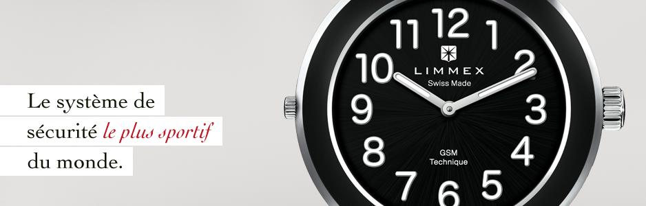 La montre d'appel d'urgence est fabriquée entierement en Suisse.