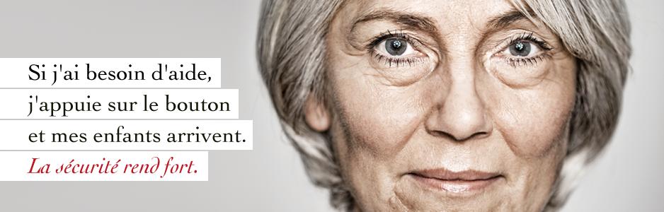La sécurité donne confiance en soi. La plupart des personnes âgées souhaitent rester le plus longtemps possible dans leur appartement. C'est possible avec la montre d'appel d'urgence Limmex.