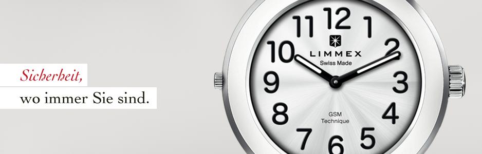 Sicherheit, zuhause und unterwegs. Die Limmex Notruf-Uhr funktioniert im Notfall immer und überall.