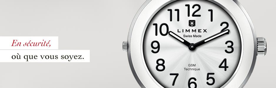 La montre d'appel d'urgence Limmex vous permet de demander de l'aide où que vous soyez.